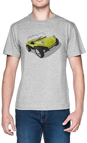 Manx Plage Petit Chariot Gris Homme T-Shirt Taille...