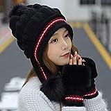 Hat Ladies Winter Plus Velvet Knit hat Warm Fashion Thickening Hair Ball Earmuffs