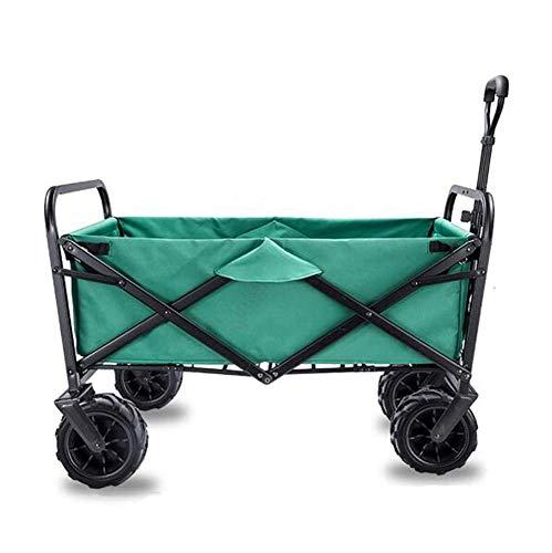 SYue Gartenwagen Faltbarer Wagen Schwerlast-Festwagen-Zugwagen LKW-Transportwagen Zusammenklappbar mit Bremsrädern, 90 kg / 198 Pfund Kapazität