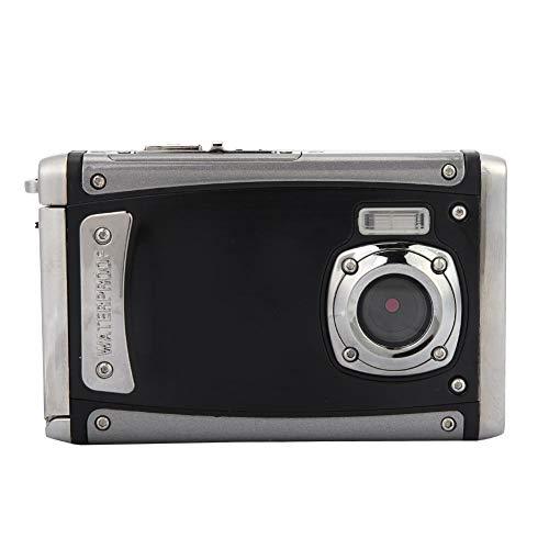 """Lazmin Cámara de acción a Prueba de Agua con Pantalla LCD de 2.4"""", cámara Digital ultradelgada con Zoom HD 4X, cámara Deportiva para Exteriores de 16MP 1080P"""
