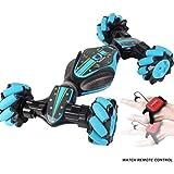 LIBAO 2019 New Rc Stunt Car,Christmas Stunt Rc Car Gesture Sensing Twisting Vehicle Drift Car Driving Toy Gifts (Blue)