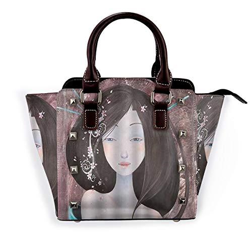 BROWCIN Japan Geisha Anime Girl Abnehmbare mode trend damen handtasche umhängetasche umhängetasche