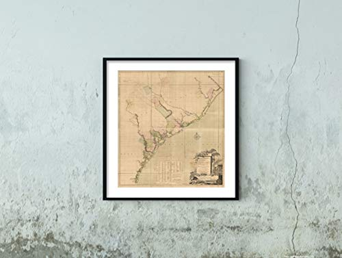 1757 A map of South Carolina and a Part of Georgia. Containing The Whole sea-Coast; All The Islands, inlets, Rivers, Creeks, parishes, townships, Boroughs, Roads, and Bridges; as Also, Several pl|His