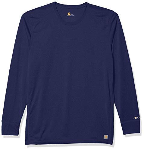 Carhartt mensC36109ACarhartt Men's Longsleeve Force Tee Shirt Medical T-Shirt - blue - Large