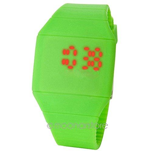 Ultra Fino Unisex Deportivo Pulsera Reloj Silicona Led Digital De Mujer Hombre