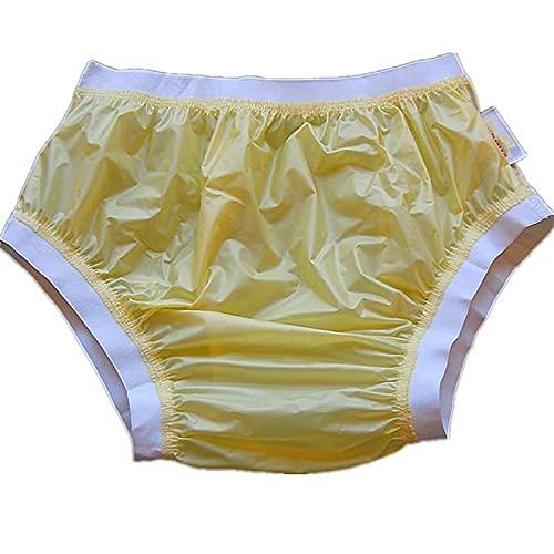 Pantalones Elásticos Para Incontinencia, Pañales Para Adultos, Pañales Para Incontinencia, Pañales Impermeables Y Reutilizables, Adecuados Para Ancianos, Hombres Y Mujeres Adultos,Beige,S