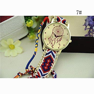 XKC-watches Relojes de Mujer, Estilo Nacional de Corea del Sur Tejer atrapasueños Cadena de Reloj de Bricolaje de Las Mujeres de la Moda (Color : # 7, Talla : para Mujer-Una Talla)