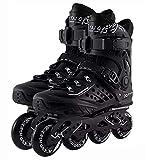 TongNS1 Patines en línea para hombres y mujeres Patines de ruedas | Rodamientos de bolas cromados ABEC-9 | Patines de fitness unisex para adultos, transpirables y cómodos black,46