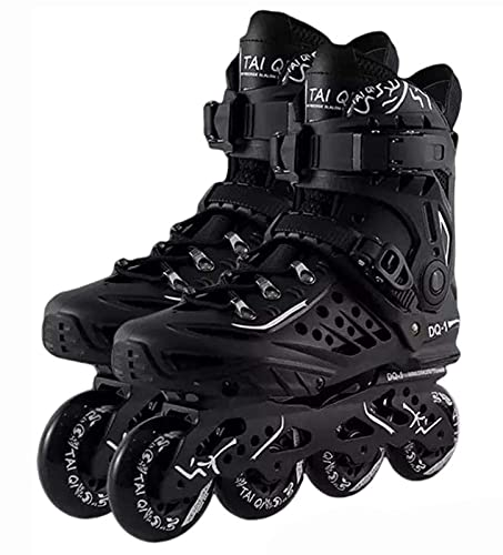 TongNS1 Herren Damen Inliner Inlineskates Rollschuhe Roller Skates| 82A Rollen | ABEC-9 Chrome Kugellager | Unisex Fitness Skates für Erwachsene Atmungsaktiv und bequem black,43