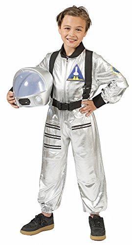 Astronaut Tobias Kostüm für Kinder - Silber Gr. 116
