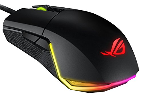 ASUS ROG Pugio Aura RGB USB Wired Optical Ergonomic Ambidextrous Gaming Mouse (Renewed)