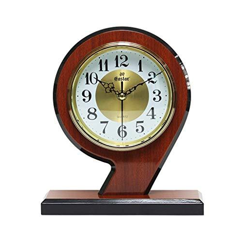 BANANAJOY Reloj de Escritorio de, Madera sólida Reloj del Escritorio, for no Hacer tictac, Reloj de Escritorio Creativa de 9 Letras Dormitorio, Sala de Estar de Estilo Europeo Reloj de péndulo Piezas
