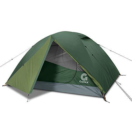 Gonex Tienda de Campaña 3-4 Personas, Tienda de Camping Ligero Impermeable Anti Viento, Tienda Domo para Senderismo Excursionismo Trekking Mochilero Montañismo Acampar Escalada Viaje, Fácil de Montar