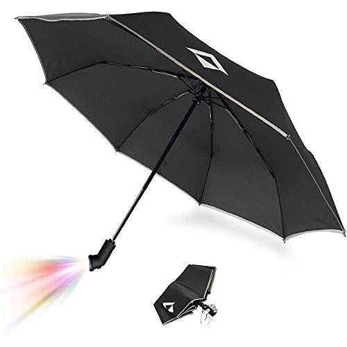 RFLECT LED Flashlight Compact Umbrella Automatic and 3 Folding (Black)