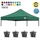 ABCCANOPY Pop Up Canopy Replacement Top Cover 100% Waterproof Choose, Bonus 4 x