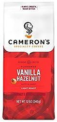 Cameron's Coffee Roasted Ground Coffee Bag, Flavored, Vanilla Hazelnut, 12 Ounce