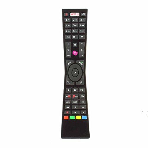 Vervangende afstandsbediening geschikt voor Currys JVC RM-C3231 Smart 4K LED TV met NETFLIX YouTube Freeview - geschikt voor vele modellen