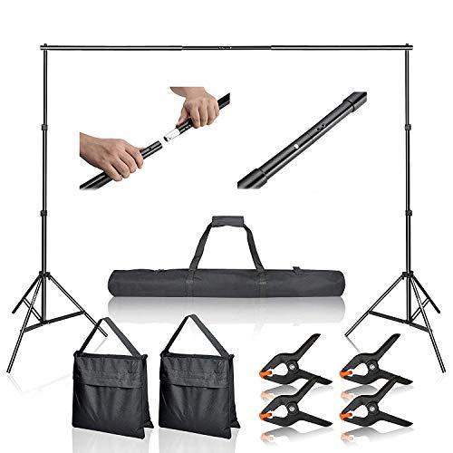 Emart Foto-/Video-Studio 2M x 3M Verstellbarer Hintergrund Stativ-Hintergrund Stützsystem Satz mit Tragetasche