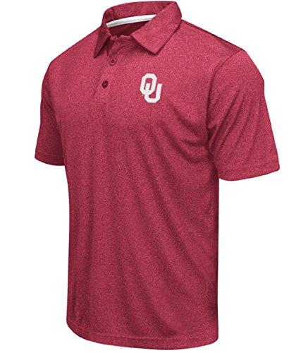 Colosseum Herren NCAA Heathered Trend-Setter Golfshirt Poloshirt, Herren, Oklahoma Sooners-meliert Karminson, Large