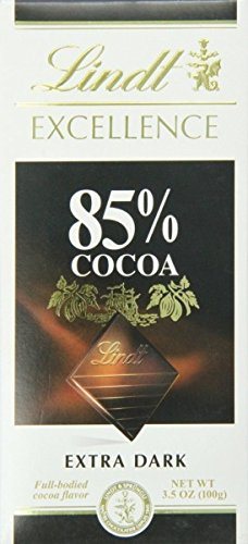 Lindt Excellence 85% Cocoa Dark Chocolate, 100g (Pack of 2)