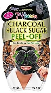 Montagne Jeunesse 7th Heaven Charcoal and Black Sugar Peel Off Mask, pack of 1