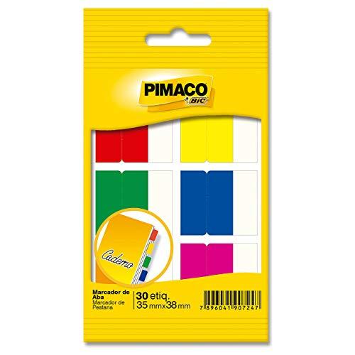 Marcador de Abas Pimaco BIC, 32x38mm, 935257, 6 Cores, 30 Etiquetas