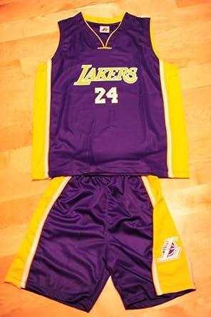 Kobe Bryant Basketball Jersey Set: Purple #24 LA Lakers Kids Youth ...