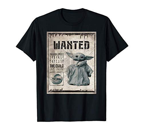 Star Wars The Mandalorian The Child Wanted Poster Camiseta