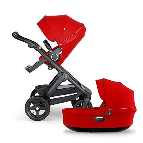 Stokke Trailz Kinderwagen und Tragetasche, Rot