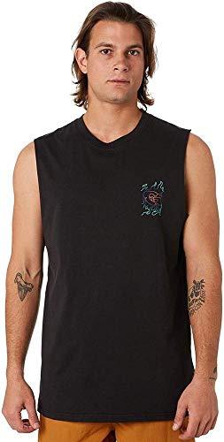 Globe Blazed Muscle Camiseta, Hombre, Washed Black, XS