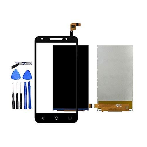 Pantalla LCD teléfono 5.0' en Forma for Alcatel One Touch U5 OT5044 5044 5044D 5044I 5044T 5044Y Pantalla táctil LCD de Panel de la Pantalla de Repuesto for teléfono (Color : Black Touch and LCD)