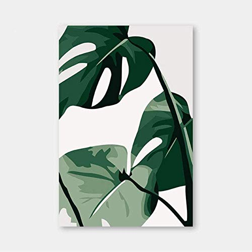 QIAOYUE Kit de Pintura acrílica de Bricolaje para Pintar Kits de Lienzo Planta de Hoja de Dibujos Animados Disfraz casero Adecuado para Sala de Estar, Estudio, habitación de niños-40x50cm-Frameless