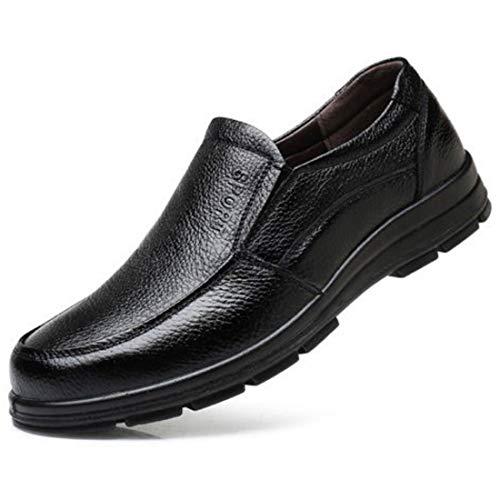 Chaussure de Cuisine Homme en Cuir Chaussure de Travail Antidérapant Légère