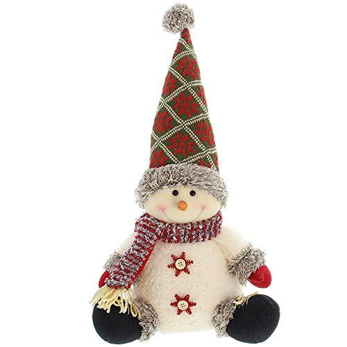 SIDCO Türstopper Schneemann XXL Türbremse Winter Figur Weihnachten Advent Deko 50 cm