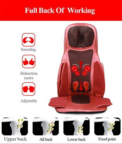 Balscw Masseur de Cou de Dos de Taille Coussin de Massage de Chaleur Coussin de siège avec Rouler malaxant Les Vibration soulagent la Douleur de Muscle - Utilisation de Voiture de Bureau à la Maison
