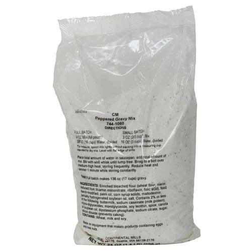 Continental Mills Peppered Gravy Mix 1.5 case. -- NEW before selling Dallas Mall per 6 Pound
