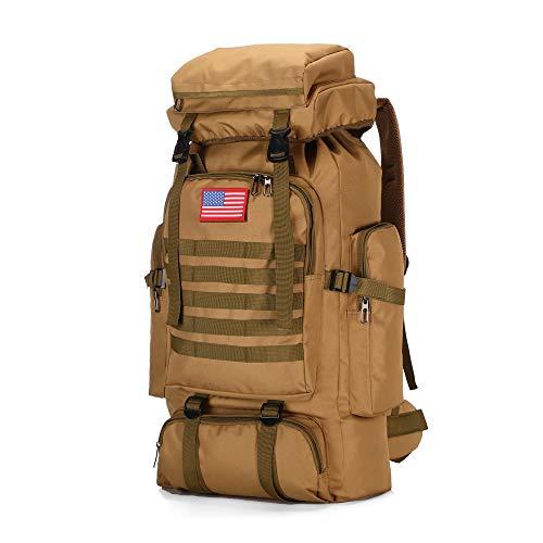 70l Hiking Backpack for Men Waterproof Military Camping Rucksack Travel Daypack