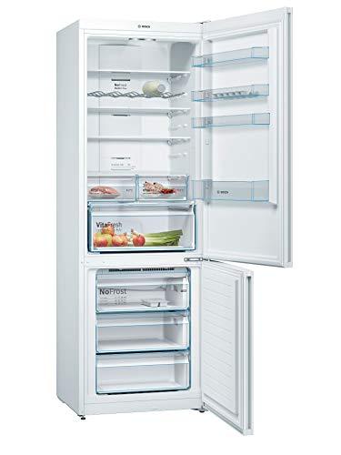 Bosch Elettrodomestici KGN49XWEA Serie 4, Frigo-congelatore combinato da libero posizionamento, 203 x 70 cm, Pannello del mobile