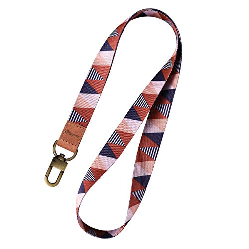 Supgear Lanyard with ID Holder, Neck Strap for Women and Girls Wristlet Keychain Premium Printed Keychain Lanyard for Key, Mobile Phone, Card Holders and ID Badges (Triangle Lattice)