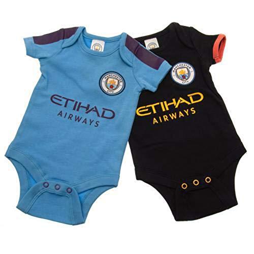 Brecrest Manchester City Baby Bodysuits 2019/20-12-18 Months