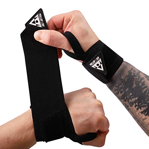PULLUP & DIP Wrist Wraps, Professional Wrist Support for Weightlifting, Calisthenics, Crossfit, Bodybuilding & Strength Training, Stabilizing & Protective for Women & Men (Pullup & Dip Branding)