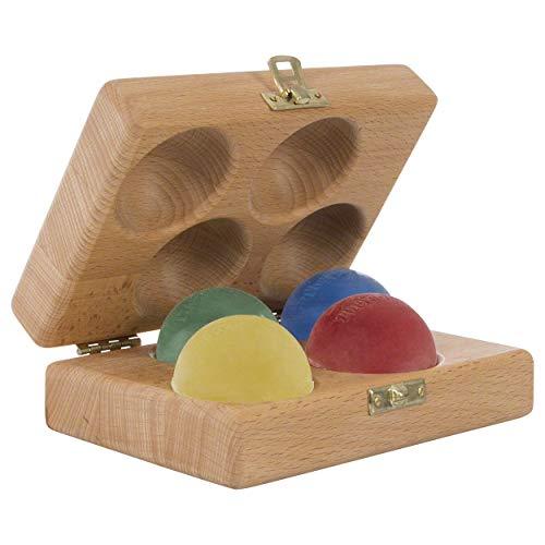 Sport-Tec Thera Band Handtrainer-Set Fingertrainer Antistressball, 4 Stärken inkl. Holzbox
