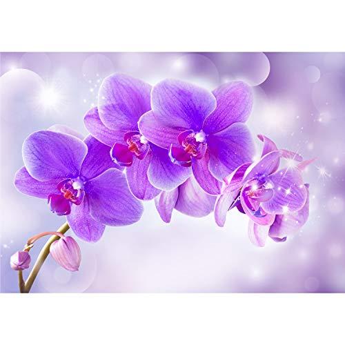 2885 Fototapete Blumen Blüten Orchideen Holz Holzoptik liwwing no