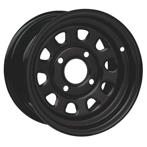 ITP Delta Steel Wheel - 12x7 - 2+5 Offset - 4/110 - Black , Bolt Pattern: 4/110, Rim Offset: 2+5, Wheel Rim Size: 12x7, Color: Black, Position: Front/Rear D12R511 -  I.T.P. Wheels, 1225544014