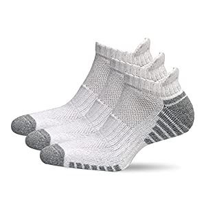 SoComfy Low-Cut Socks 3 Pairs – Soft Cotton Breathable Comfort Tab Short Non-Slip Running Socks - Performance Sports Trainer Low Cut Ankle Footies Mens & Womens - Athletic & Casual Wear (White)