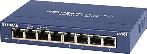 NETGEAR スイッチングハブ ギガビット8ポート/金属シャーシ/設定不要/外部電源/ファンレス静音設計/省エネ/...