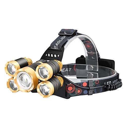 YGRSJ Linterna de Cabeza LED de inducción, detección de