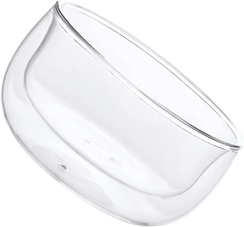 YRHH 2Pcs Glass Dessert Bowl Wall Anti-Scald T Double Today's Large-scale sale only