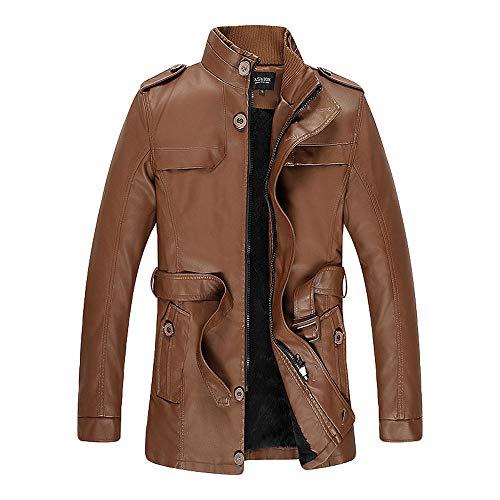 Ccsluo Herren Denim Lederjacke, Windproof Streetwear Man Jacke Herren Windbreaker Mantel Hip Hop Herren Jacken Kleidung,B,L