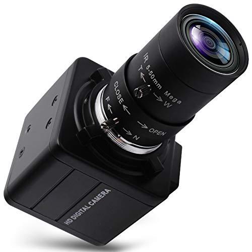 4K Ultra HD Webcam Varifocal HD 5-50mm Objektiv USB Mini Web Kamera 3840X2160@30fps USB mit Kamera IMX317 Sensor Kamera,USB UVC Manueller Zoom Konferenz Webcam für Mac/Window/Linux/Raspberry Pi